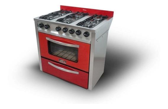 Cocina Motta Pro900-frente Completo De Vidrio-horno Visor
