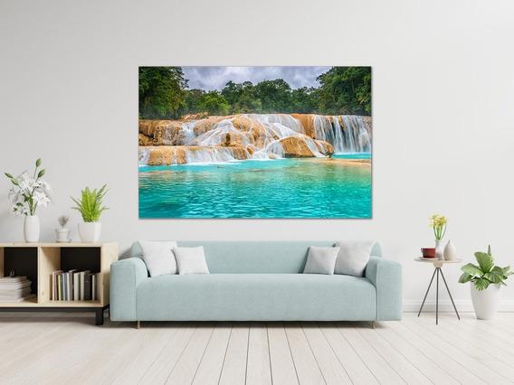 Cuadro Moderno Canvas, Cascada Agua Azul Chiapas