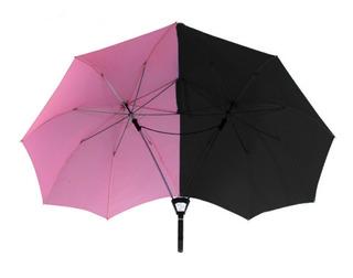 Paraguas Doble Premium Para Dos Personas Importado Color Duo