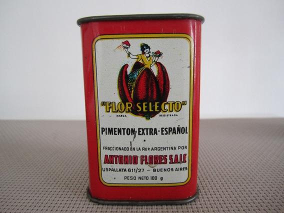 Antigua Lata De Pimentón Extra Flor Selecto 1982 - Ind. Arg