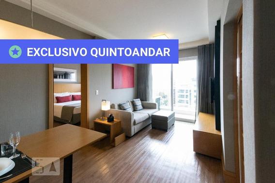 Apartamento No 1º Andar Mobiliado Com 1 Dormitório E 1 Garagem - Id: 892974162 - 274162