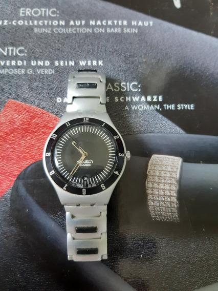 Relógio Swatch V8 Irony Aluminiun / Impecável ! Suíço