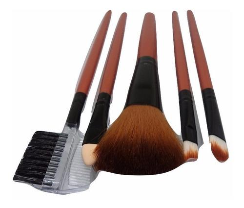 Imagen 1 de 7 de Kit Básico De Pinceles Para Maquillaje Sombras