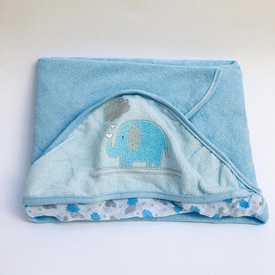 Toalha Banho Bebê Incomfral Plush 0204330301 Azul