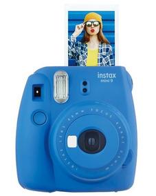 Câmera Fujifilm Instax Mini 9 Azul Selfie + Film 10 Fotos Sp