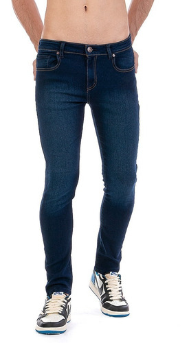 Imagen 1 de 9 de Jeans Pantalón De Mezclilla Caballero Skinny Stone Oscuro