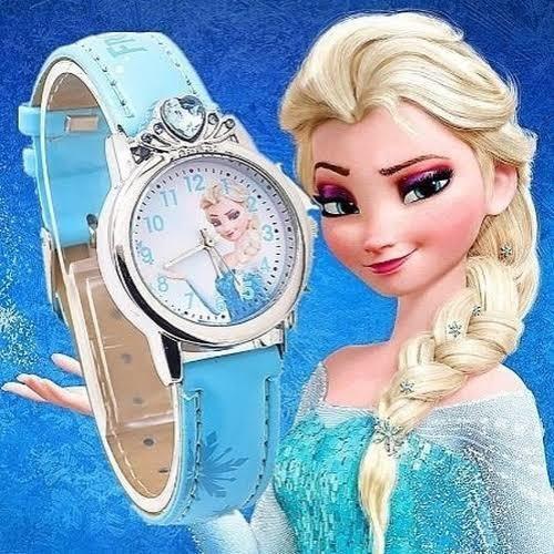 Lindo Relógio Elsa Frozen Disney - Azul