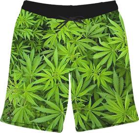 Short Bermuda Planta Cannabis Reggae Tumblr 4i20 Chá