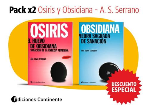 Pack 2 Libros  Osiris Y Obsidiana De A. S. Serrano Dto. 20%