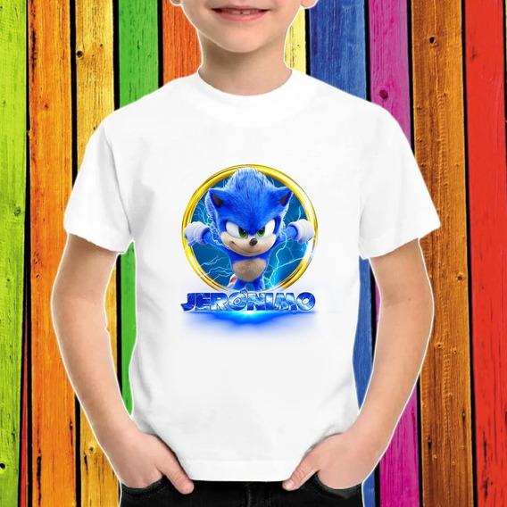 Sonic Película Playera Estampada Personalizada Niño 02