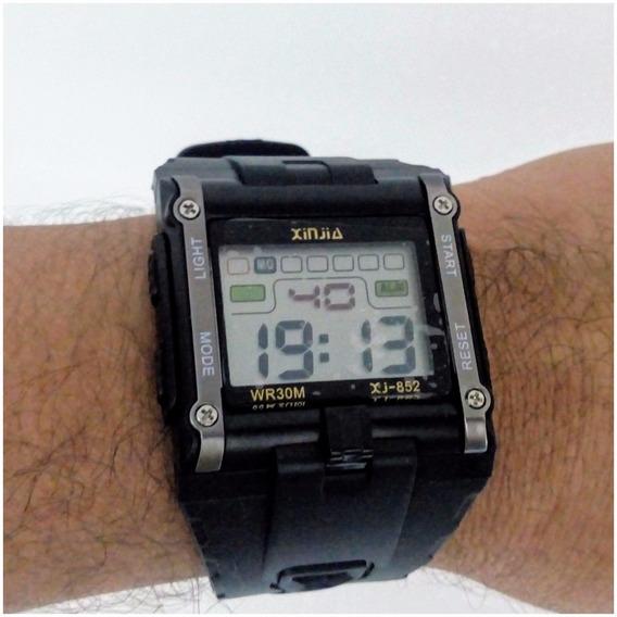 Relógio Masculino Digital Quadrado Xinjia Original 12x S/j
