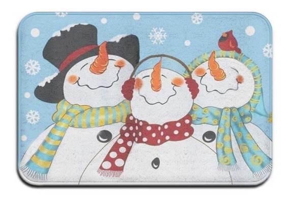Friends Snowman - Alfombra Para Puerta, Diseño De Muñeco De
