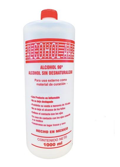 Alcohol Etilico Puro 96° G.l 1 Litro