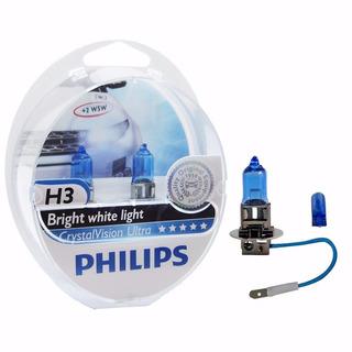 Lamparas Philips Crystal Vision H3 Efecto Xenon 4300k