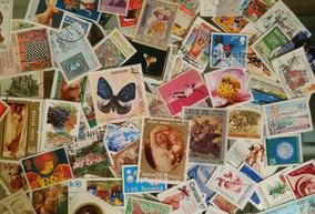Lote Com 100 Selos Comemorativos Diferentes