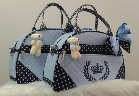 Kit Bolsas De Bebê/maternidade Personalizadas Ref 535