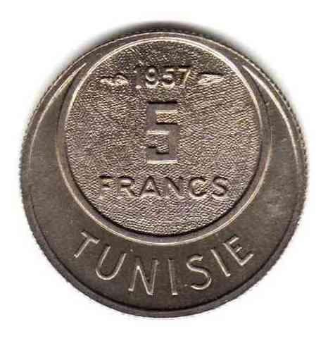 Moneda De Tunez Año 1957 Valor Catalogo 7 Dolares Oferta!!