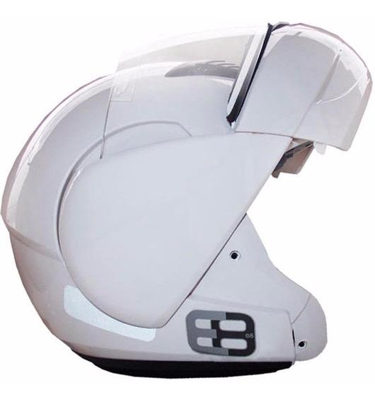Capacete Motos Ebf E8 Rocop 56/58/60/61 Escamoteavel