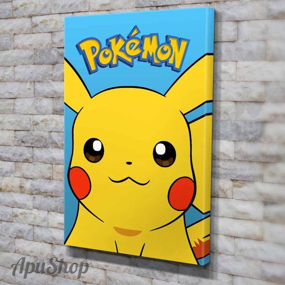 Cuadros Canvas 75x50 Pokémon Picacku Animé Manga Chicos Tv