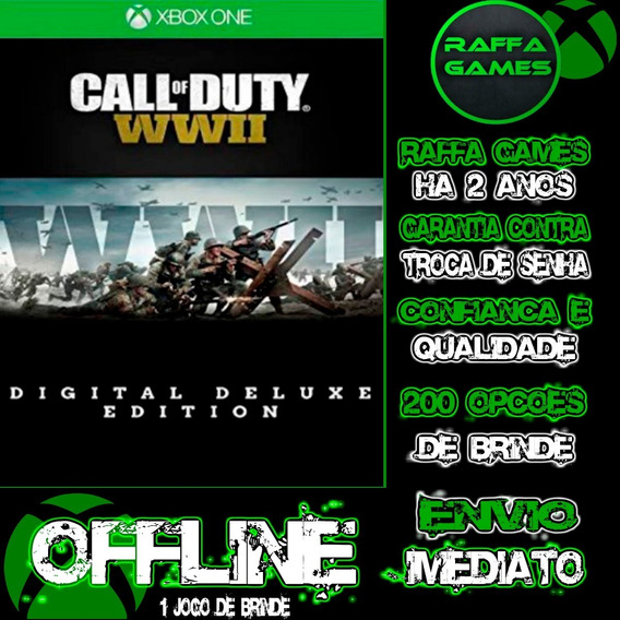 Call Of Duty Ww2 Deluxe Edition Xbox One Offline + Brinde