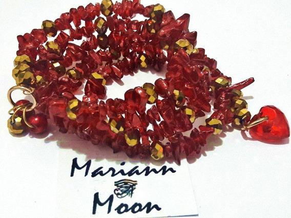 Pulsera De Diseño 4 Vueltas Cristal*mariann Moon*