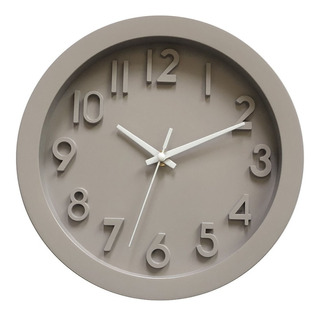 Reloj De Pared 3d Clasico Blanco / Gris - Rex