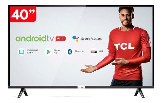 Smart Tv 40 Led Hd Tcl 40s6500 Android E Comando De Voz