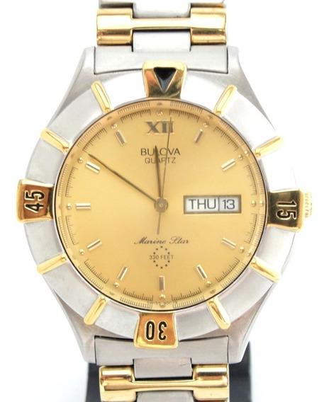 Relógio Bulova Marine Star Masculino Wr 100 - Ref: 90c79