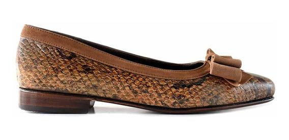 Zapato Chatita Cuero Mujer Briganti De Vestir Mccha2855