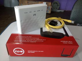 Kit Fibra Optica ,modem Zte F643 + Roteafor Keo 300mbps