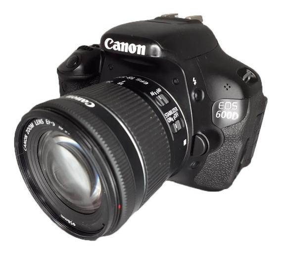 Câmera Canon 600d (t3i) Seminova + Lente 18-55 Mm