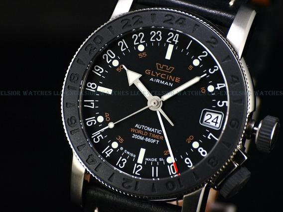 Relógio Glycine Airman 17 Gmt Automático, Como Novo