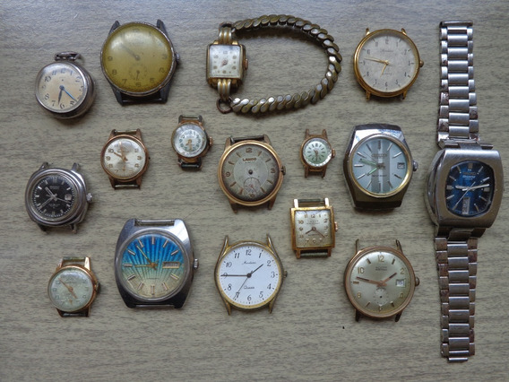 Lote De Relógios P/restauro Ou Peças - Made Swiss E Japan