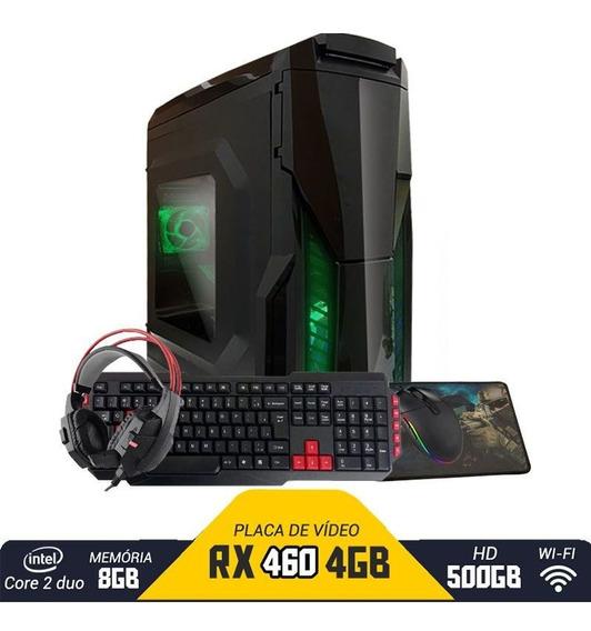 Pc Gamer Aires Intel Pcyes Rx 460 8gb Hd 500gb Wi-fi