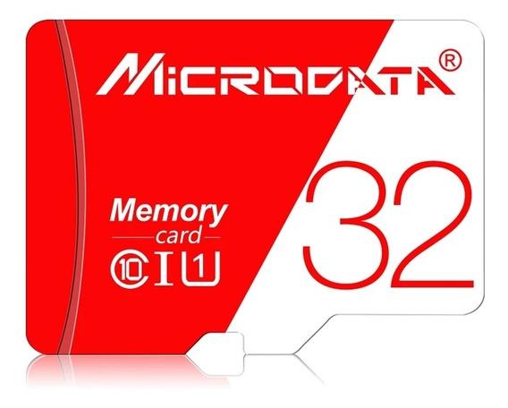 08 Cartão De Memória 32gb MicrodataOriginal + Adaptador