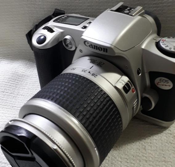 Canon Eos Kiss (câmera Filme 35mm) + Bateria E Carregador