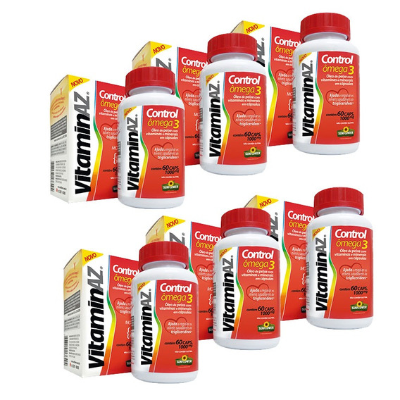 Kit 6x Vitaminaz Control Omega 3 60 Cápsulas Sunflower