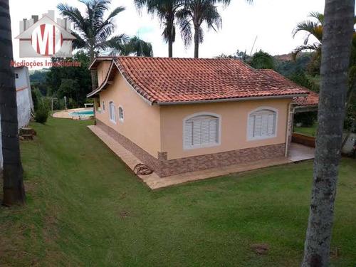 Linda Chácara Com 03 Dormitórios, Piscina, Área Gourmet, Pomar, Pertinho Da Cidade À Venda, 800 M² Por R$ 350.000 - Zona Rural - Pinhalzinho/sp - Ch0003