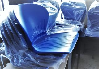 Repuesto Silla Plástico Concha Azul - Naranja