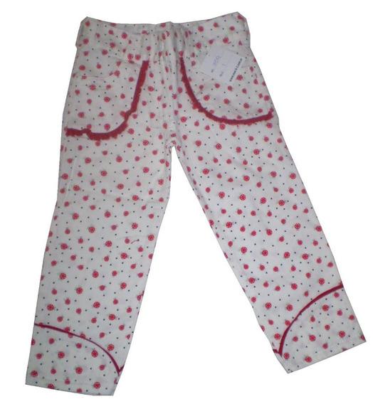 Oferta! Pantalon Primav Nena Gabardina Ajustable C/bolsillos
