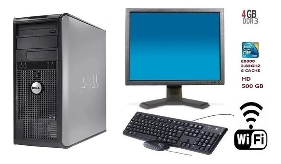 Pc Dell 780 Core 2 Duo E8500/ 4gb Ddr3 / Hd 320 Gb + Wi-fi