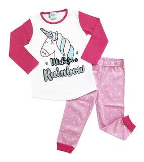 Pijama Invierno Unicornio Nena Boneco
