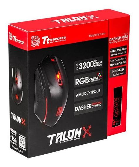 Mouse Tt Sports Talon X Optical/omron/black Mo-cpc-wdoobk-01