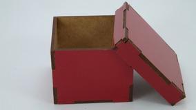 Caixa Madeira Em Mdf Colorido 20x20x9 - 4 Unidade