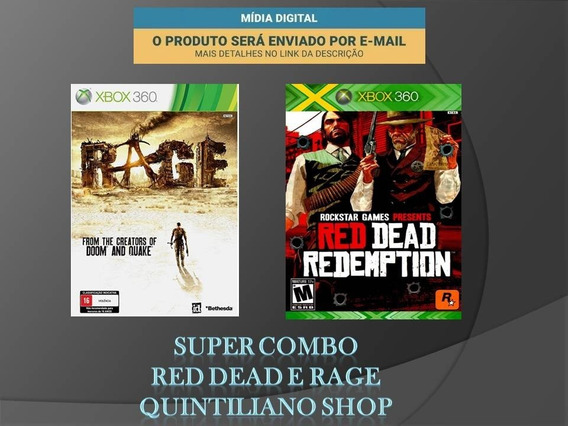 Jogos Xbox 360 Red Dead Redemption/rage Midia Digital Combo