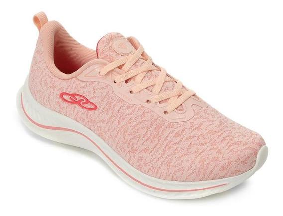Tênis Running Olympikus Feminino Anyway 773 Conforto Coral