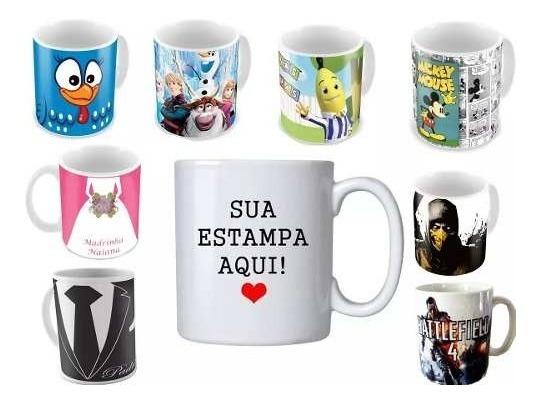 Caneca Personalizada De Porcelana + Caixinha - Promoção