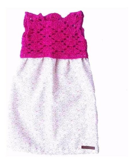 Vestido De Nena Tejido A Crochet