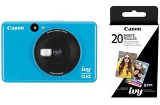 Kit Canon Zoemini C Azul Con Película Instantánea