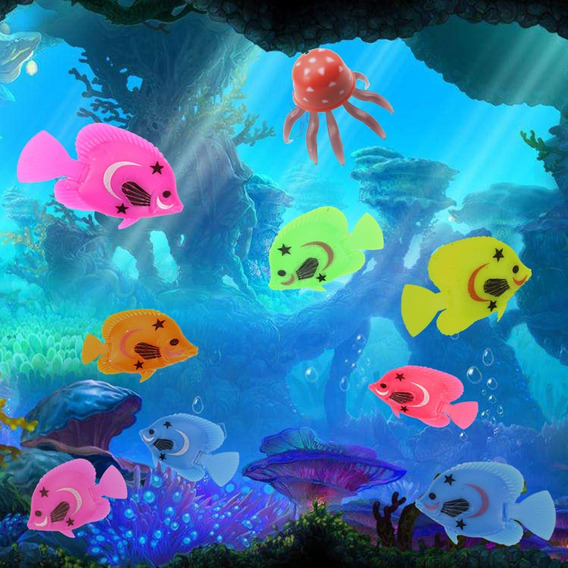 5 Peixes Flutuantes 3cm Ornamentos Para Aquário